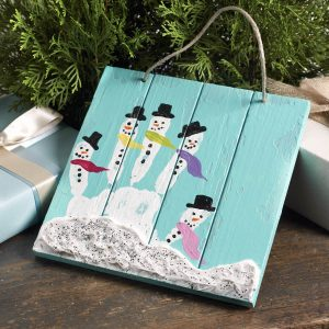 Christmas handprint crafts - snowmen handprint