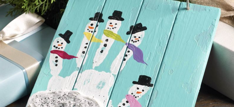 Easy holiday handprint crafts
