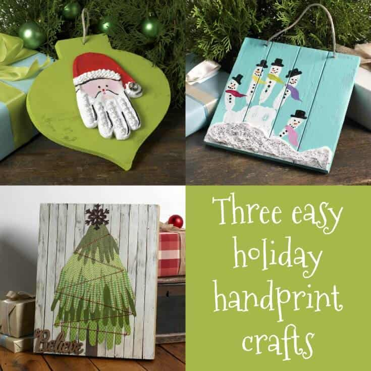 Handprint crafts are a fun favorite with small children! Make special memories with these three cute and easy Christmas craft ideas.