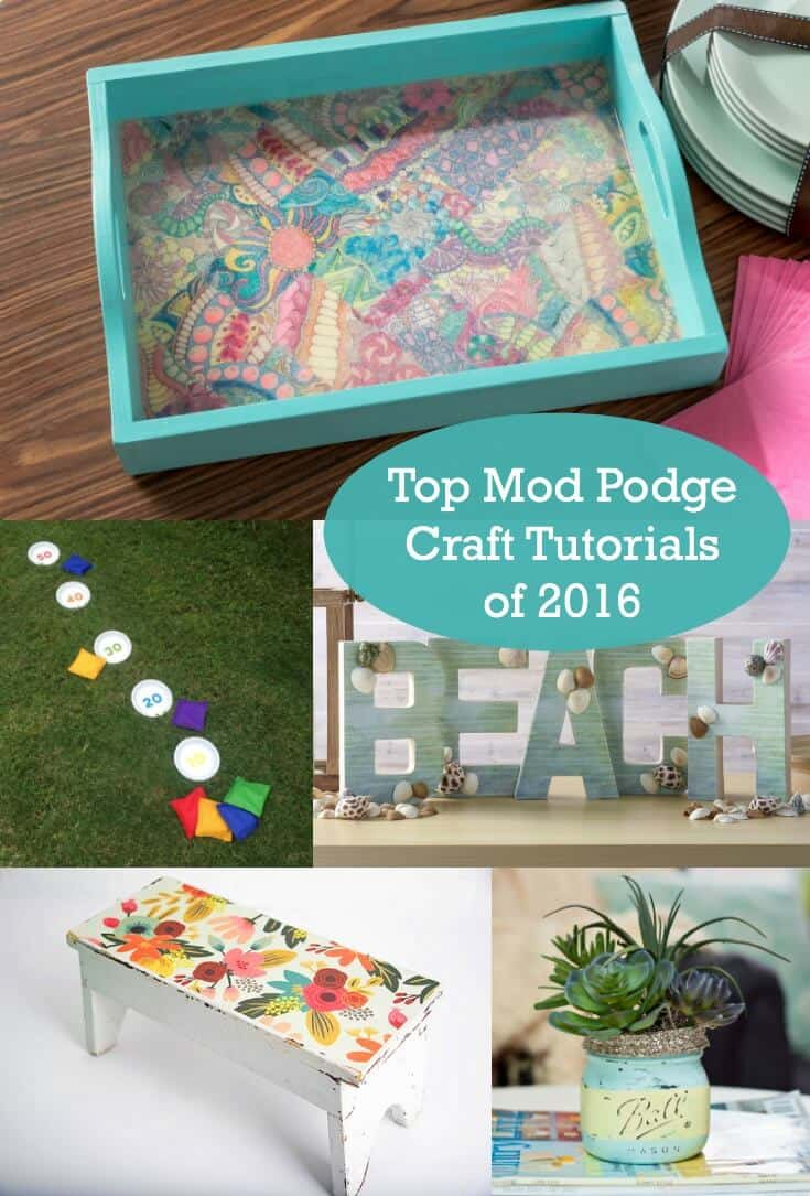 Do you love to Mod Podge? This retro craft is a blast, and it's great for beginners. Here are the top 10 Mod Podge craft tutorials of 2016.