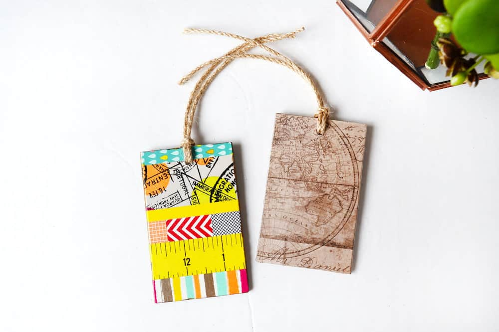 Make these cute, DIY luggage tags out of MDF wood - so easy with no special tools! Customize them any way you like with Mod Podge.
