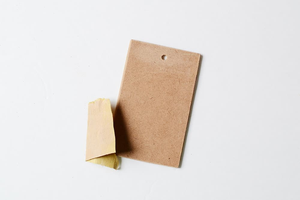 Sandpaper and an MDF gift tag