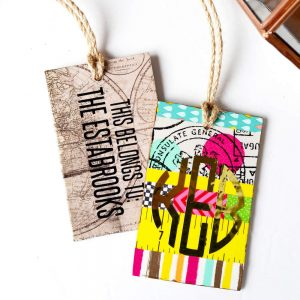 Cute DIY luggage tags from MDF