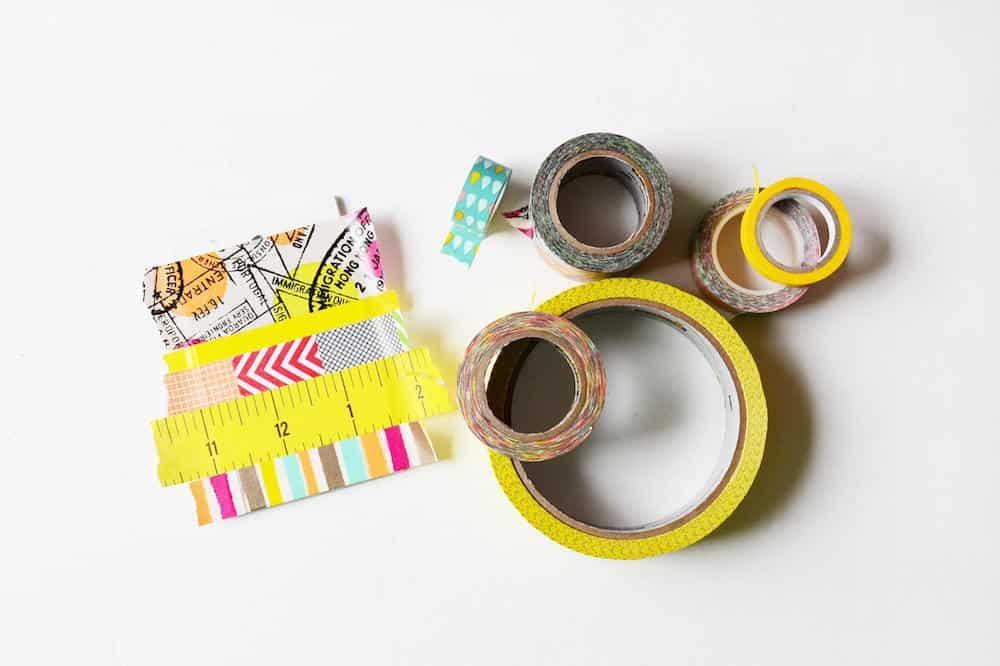 Washi tape cute luggage tag