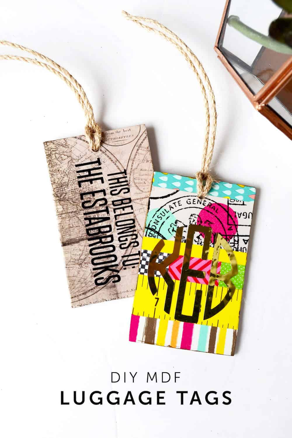 Cute DIY Luggage Tags That Make a Statement