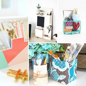 Are you looking to get your place organized on a budget? Try one of these 20 ideas for a DIY desk organizer! Personalize them any way you like.