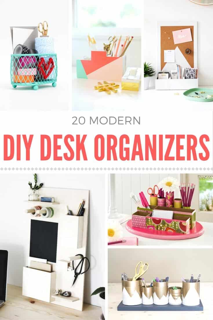 how to make a diy desk organizer mod podge rocks. Black Bedroom Furniture Sets. Home Design Ideas
