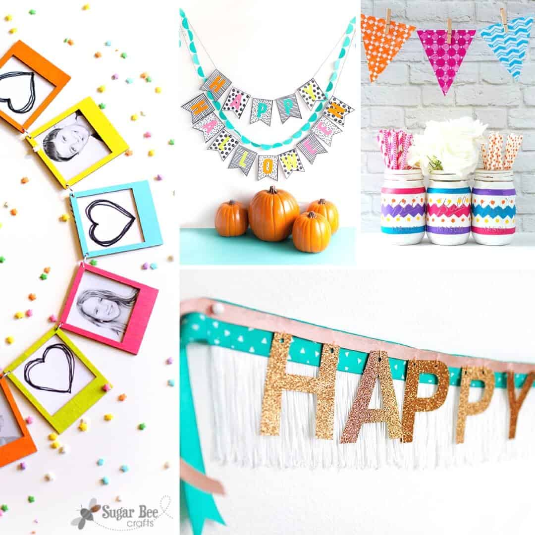 Are you wondering how to make a banner? There are so many possibilities - get 20 ideas that are perfect for your home or next party!
