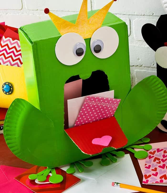 Frog Prince Valentine mailbox