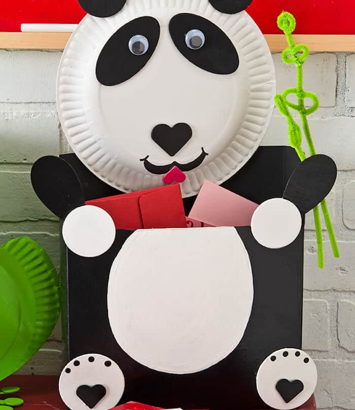 panda valentine card holder for kids