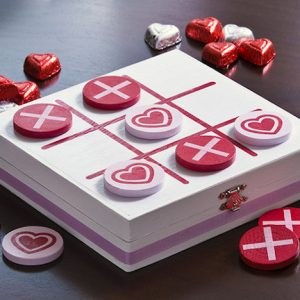 DIY Valentines tic tac toe game