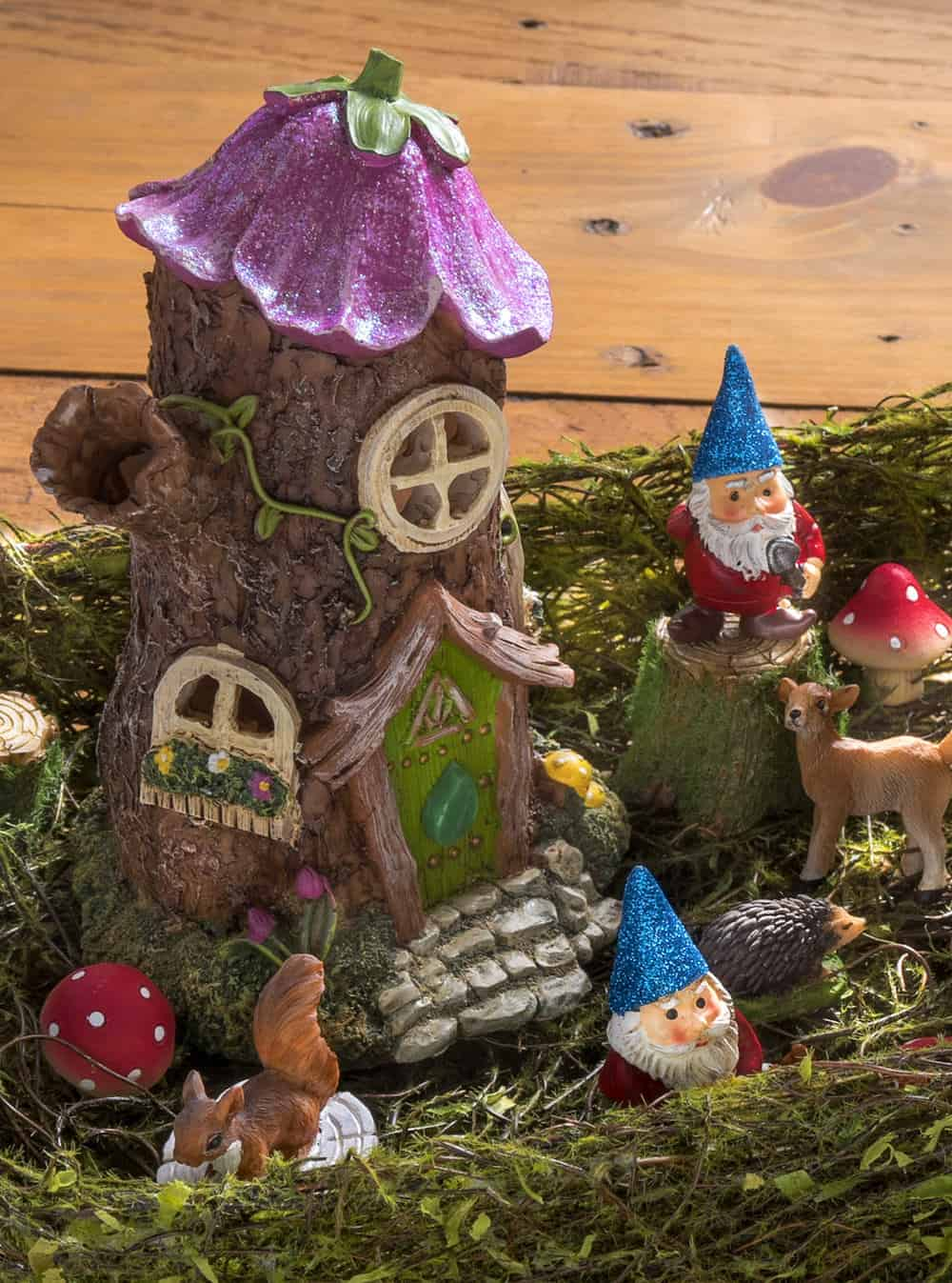 Make a Magical Desktop Fairy Garden - Mod Podge Rocks