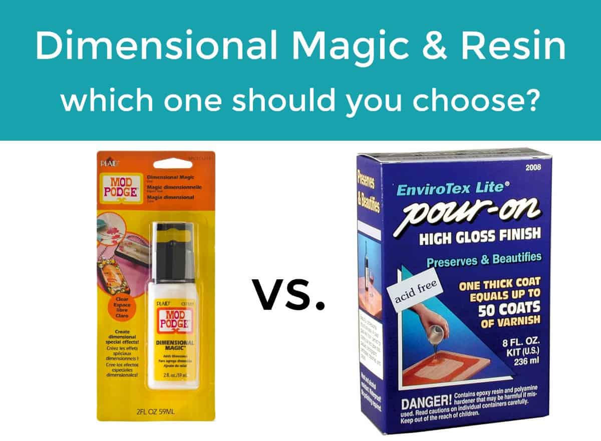 Mod Podge Dimensional Magic vs resin - which one should you pick? Find out the differences and what projects we recommend using each.