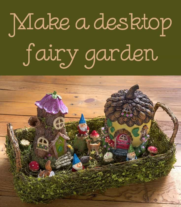 Create a desktop fairy garden with gnomes, woodland animals, and other forest accessories. Customize with glitter and Mod Melts!