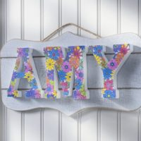 Unique Coloring Book DIY Name Plaque