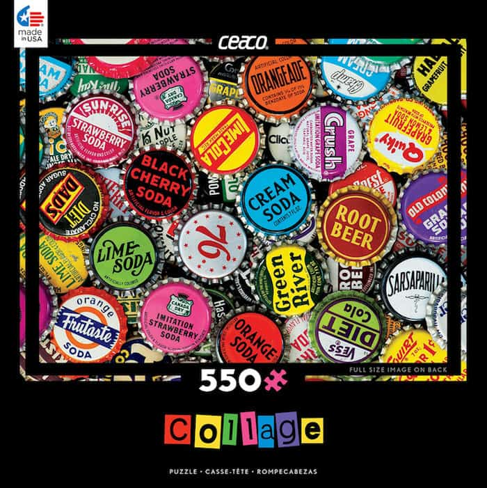 Cesco collage bottlecap puzzle