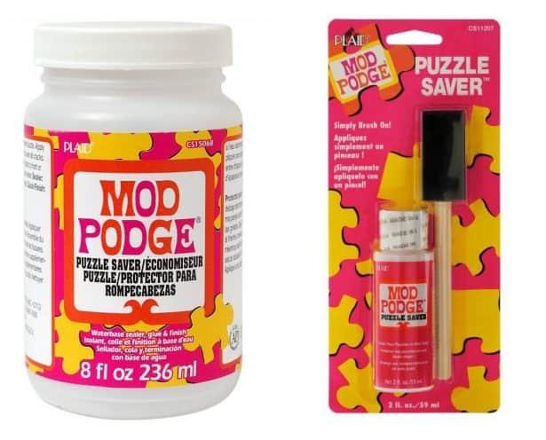 Mod Podge puzzle saver puzzle glue