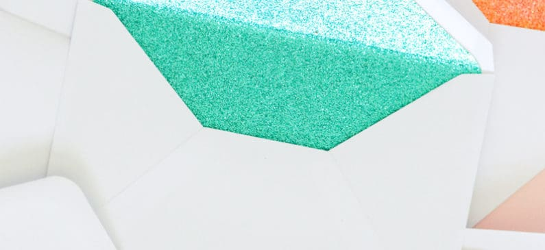 Make DIY glitter lined envelopes