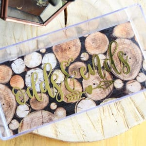 Trendy acrylic DIY catchall tray