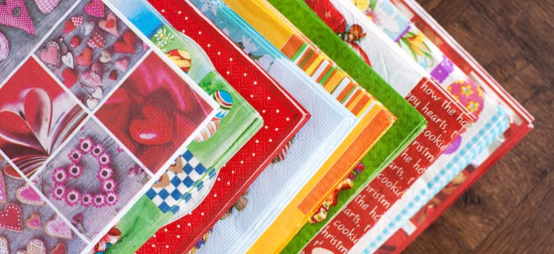 Learn how to decoupage napkins