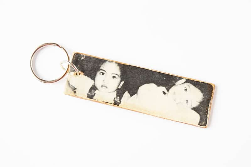 Create a photo keychain that comes together in a matter of minutes (excluding dry time). This is a perfect gift for Mother's Day!