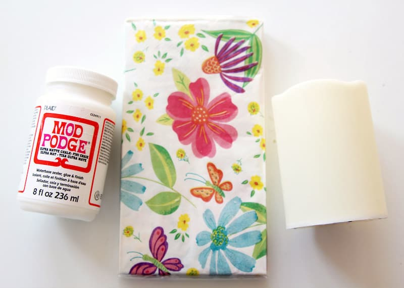Decorate Dollar Tree Candles with Napkins