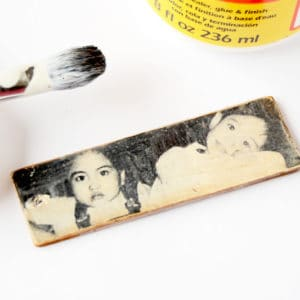 DIY memorabilia photo keychain for Mothe...