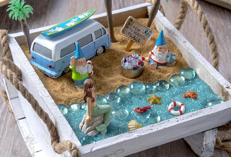 How to make a beach fairy garden for Design your own beach house