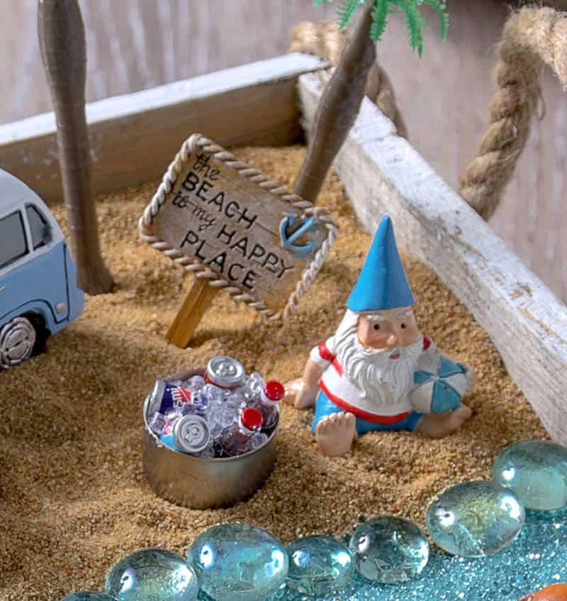 Create your own beach fairy garden and bring a sense of seaside enchantment to your home or outdoor space. It's so easy to put together!