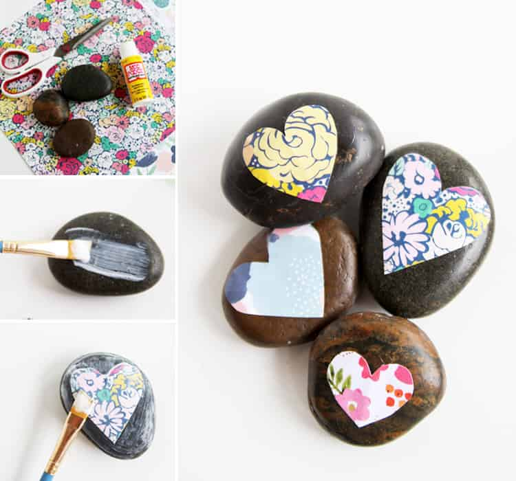 How to Mod Podge on Rocks