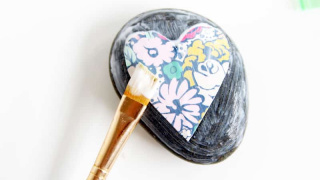 How to Mod Podge on Rocks and Make Them Pretty
