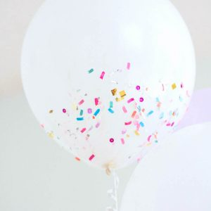 If you want the colorful look of confetti as part of your celebration, try this confetti balloons DIY. It's easy to do and inexpensive!