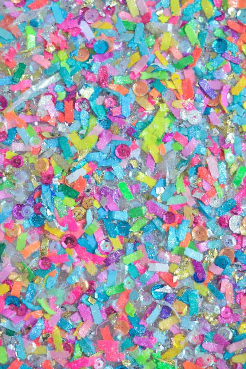 Make A Colorful Confetti Tray In Minutes Mod Podge Rocks