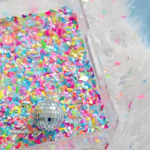Make a colorful confetti tray