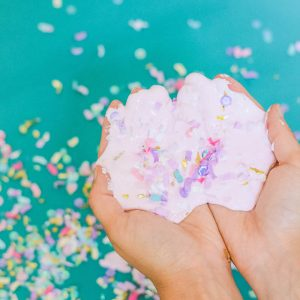Confetti Mod Podge slime without Borax
