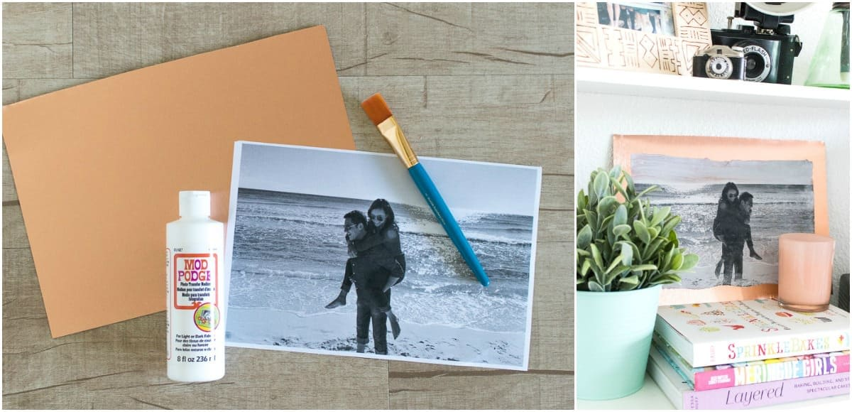 Diy Copper Metal Photo Transfer Art Mod Podge Rocks