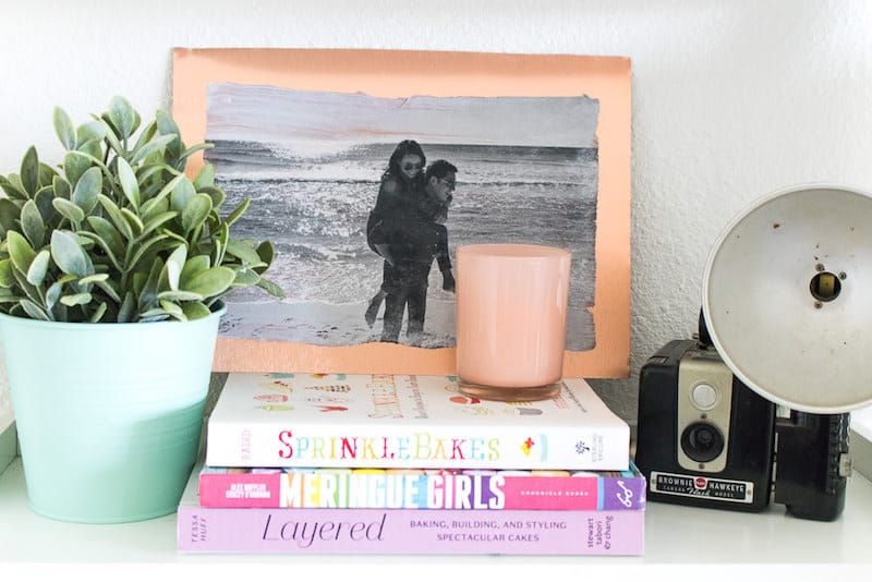 Embrace the copper trend with this metal photo transfer art! You'll use Mod Podge Transfer Medium - it's very easy to do and makes unique decor.