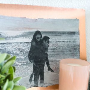 DIY copper metal photo transfer art