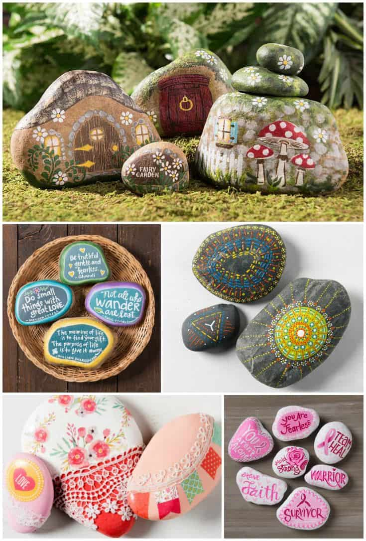 10 ideas for painted rocks