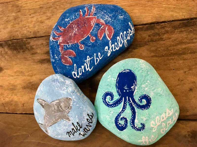 How To Paint Rocks With A Beach Theme