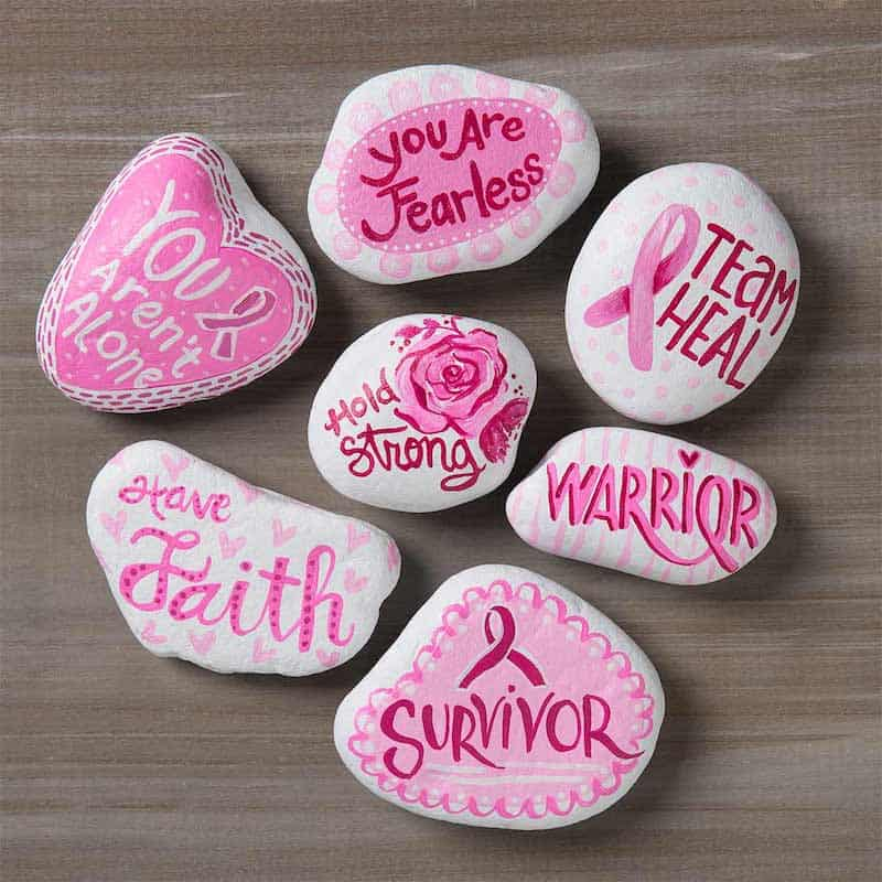 Breast Cancer Awareness DIY stones