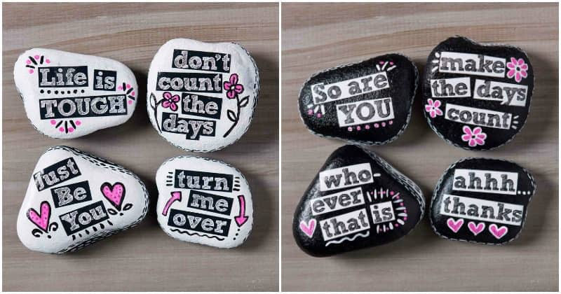 Promote random acts of kindness with beautiful painted rocks! Get inspired by these 10 projects. How will you decorate your rocks to be found?
