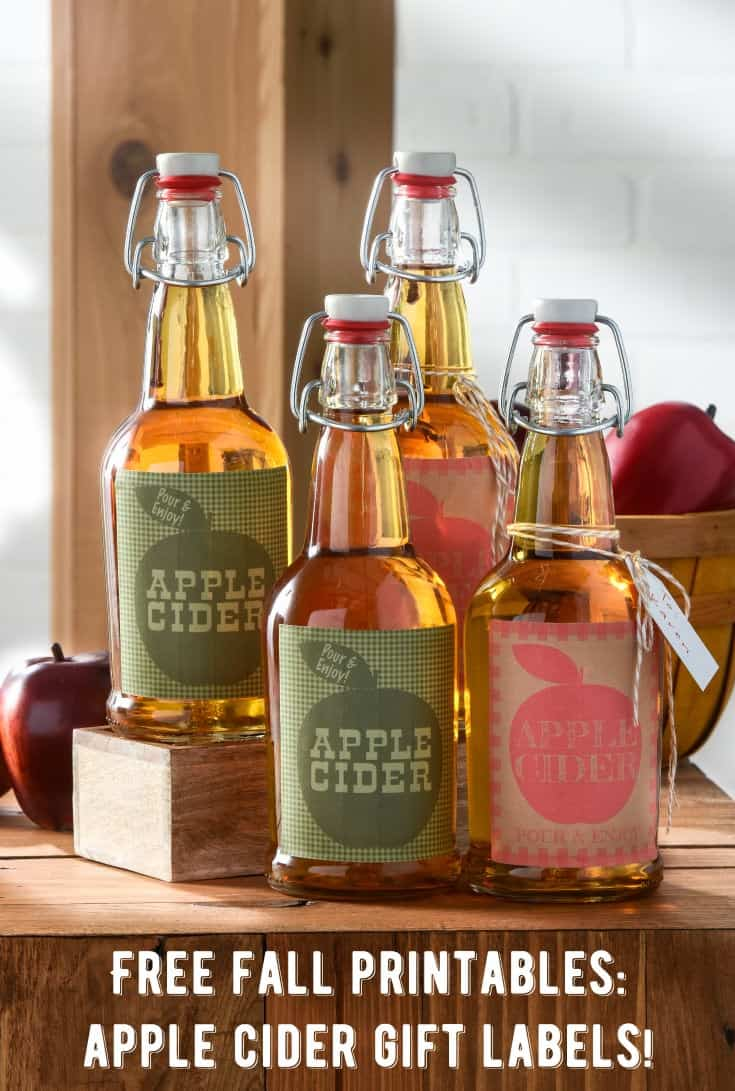 Unique Fall Gifts: Apple Cider Bottles