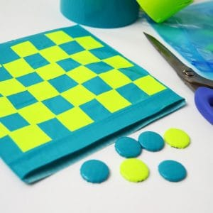 How to make a DIY checkers game
