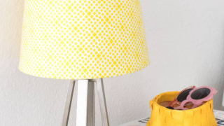 Simple Mod Podge Lampshade Makeover