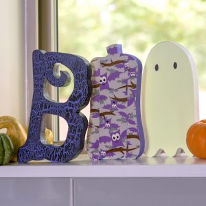BOO letters wood Halloween decor