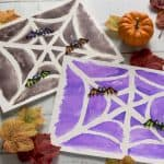 We love easy Halloween crafts for kids like these sugar drawings! Painting over a special sugar mixture reveals a unique design underneath. So fun.