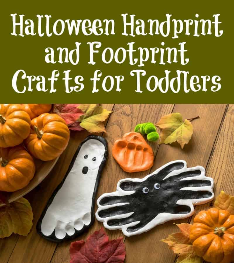Handprint Halloween Crafts for Toddlers