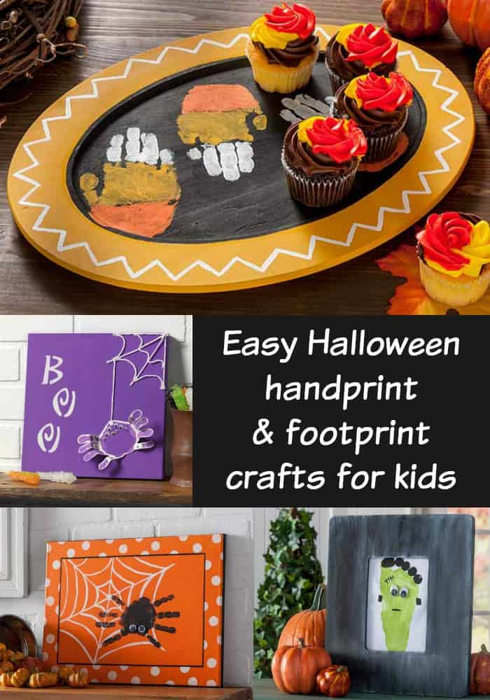 Easy Halloween Handprint Crafts for Kids