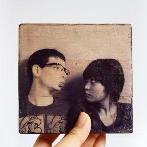 Inkjet photo transfer to wood with Mod P...